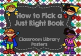 Just Right Book Posters for the Classroom Library