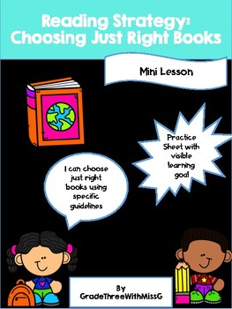 Choosing Just Right Books (Reading Strategy)