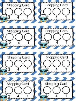 """""""Just Right"""" Book Shopping Cards {penguin theme}"""