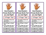 Just Right Book Test Bookmarks