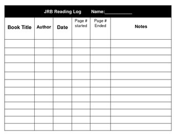Just Right Book Tracker and Log Printable