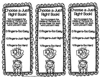 Just Right Bookmark FREEBIE