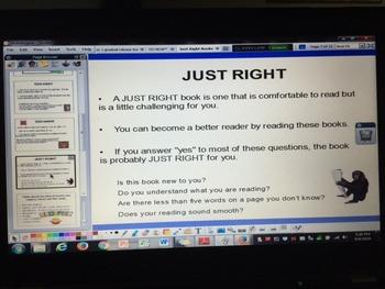 Just Right Books 5 Finger Rule Daily 5 ActivInspire Flipchart