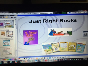 Just Right Books 5 Finger Rule Daily 5 ActivInspire Flipchart