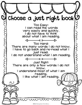 Choosing Just Right Books & 5 Finger Rule