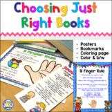 Choosing Just Right Books & 5 Finger Rule