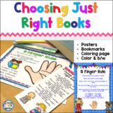 Just Right Books & 5 Finger Rule