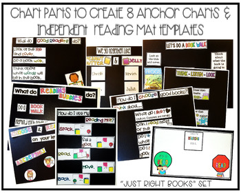 Just Right Books Anchor Chart {Chart Parts} & Reading Mats