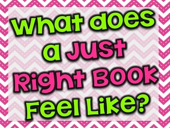 "FREE chevron ""Just Right Books"" posters"