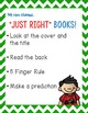 Just Right Books Poster- Editable!