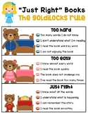 Just Right Books Poster - Goldilocks Five Finger Rule