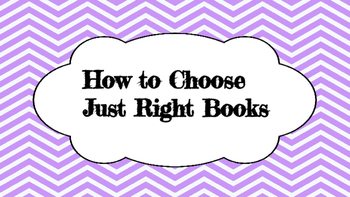 Just Right Books Posters