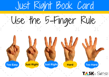Just Right Book Cards for Students