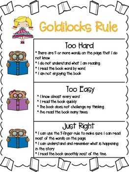 Just Right Books Poster Goldilocks Rule