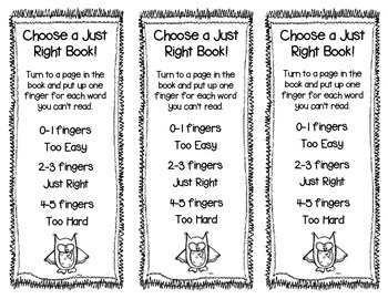 """Just Right Books""Bookmark-FREEBIE!"