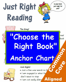 """Just Right"" Reading Selection Anchor Chart and Bulletin Board Kit"