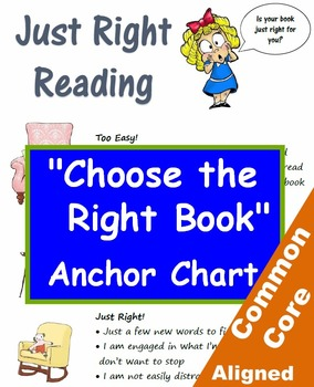 """Just Right"" Reading Selection Anchor Chart and Bulletin B"