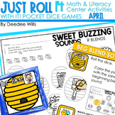 Math and Literacy Center: Just Roll With It: April editable