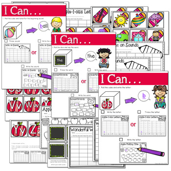 Math and Literacy Center: Just Roll With It: August/September-editable