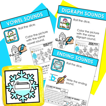 Math and Literacy Center: Just Roll With It: January-editable