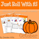 Math and Literacy Center: Just Roll With It: October-editable