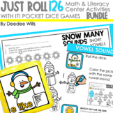 Math and Literacy Center: Just Roll With It The BUNDLE