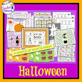Pumpkin Literacy Centers & Halloween Math