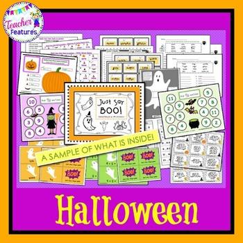 Pumpkin Literacy Centers & Halloween Math