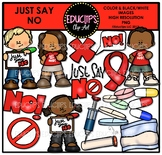 Just Say No Clip Art Bundle {Educlips Clipart}