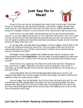 Just Say No to Meat!