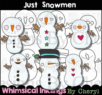 Just Snowmen Clipart Collection