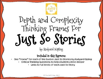 Just So Stories Depth and Complexity Frames