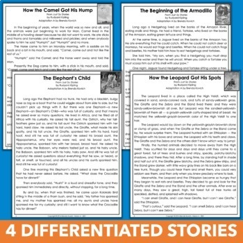 Just So Stories Reading Bundle for Fifth Grade