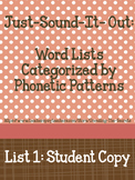 Just-Sound-It-Out: Words Categorized by Phonetic Patterns-