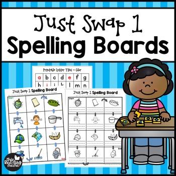 Just Swap 1 Short Vowel Game Boards