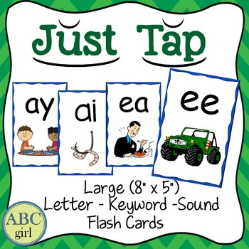 Just Tap for Words Letter-Keyword-Sound Large Flash Cards