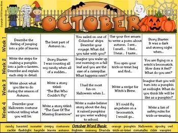 "Writing: Just The ""Write"" Stuff ~ A 12 Month Writing Calendar Set"