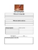 Just Touching Base-Missing Homework/Behavior Update
