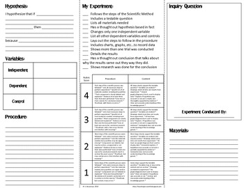 Science Experiment Trifold