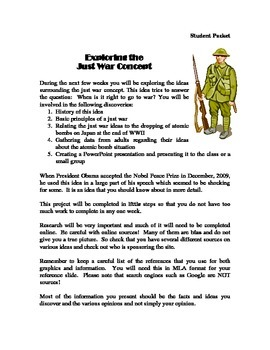 Just War Concept: Exploring, Collecting Data, Presenting