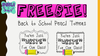 """Just """"Write"""" Pencil Toppers"""