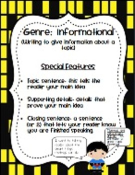 Just Write Writing Genre Posters for Your Common Core Classroom