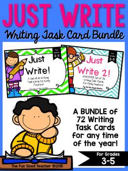 Writing Task Card Bundle - Just Write!