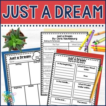 Just a Dream Guided Reading and Earth Day Lapbook