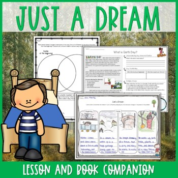 Just a Dream by Chris Van Allsburg Lesson & Book Companion - Distance Learning