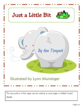 Just a Little Bit (storytime activity packet)