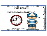 Just a Minute!  Daily Multiplication & Division Timed Tests