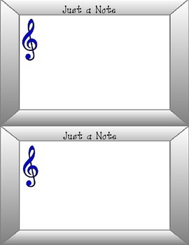 Just a Note Treble Clef