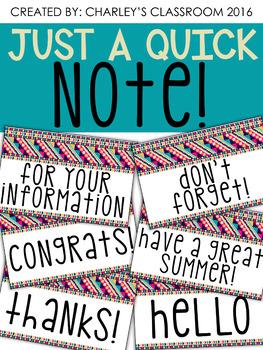 Just a Quick Note | Aztec Prints