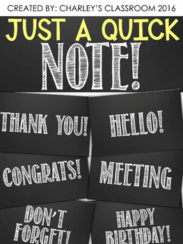 Just a Quick Note | Chalkboard